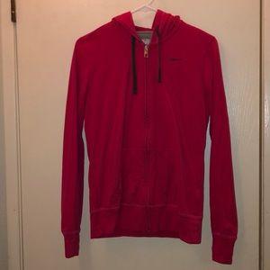 Hot pink nike zip up sweater